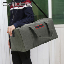 Canvas Large Capacity Clothes Travel Bag for Men Women Wearable Luggage Weekend Bag Convenient Portable 3 Colors Travel Duffle