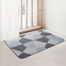 Nordic Stitching Color Block Doormat Carpet Rug For Entrance Home Bathroom Living Room Door Floor Stair Kitchen Bedroom Hallway