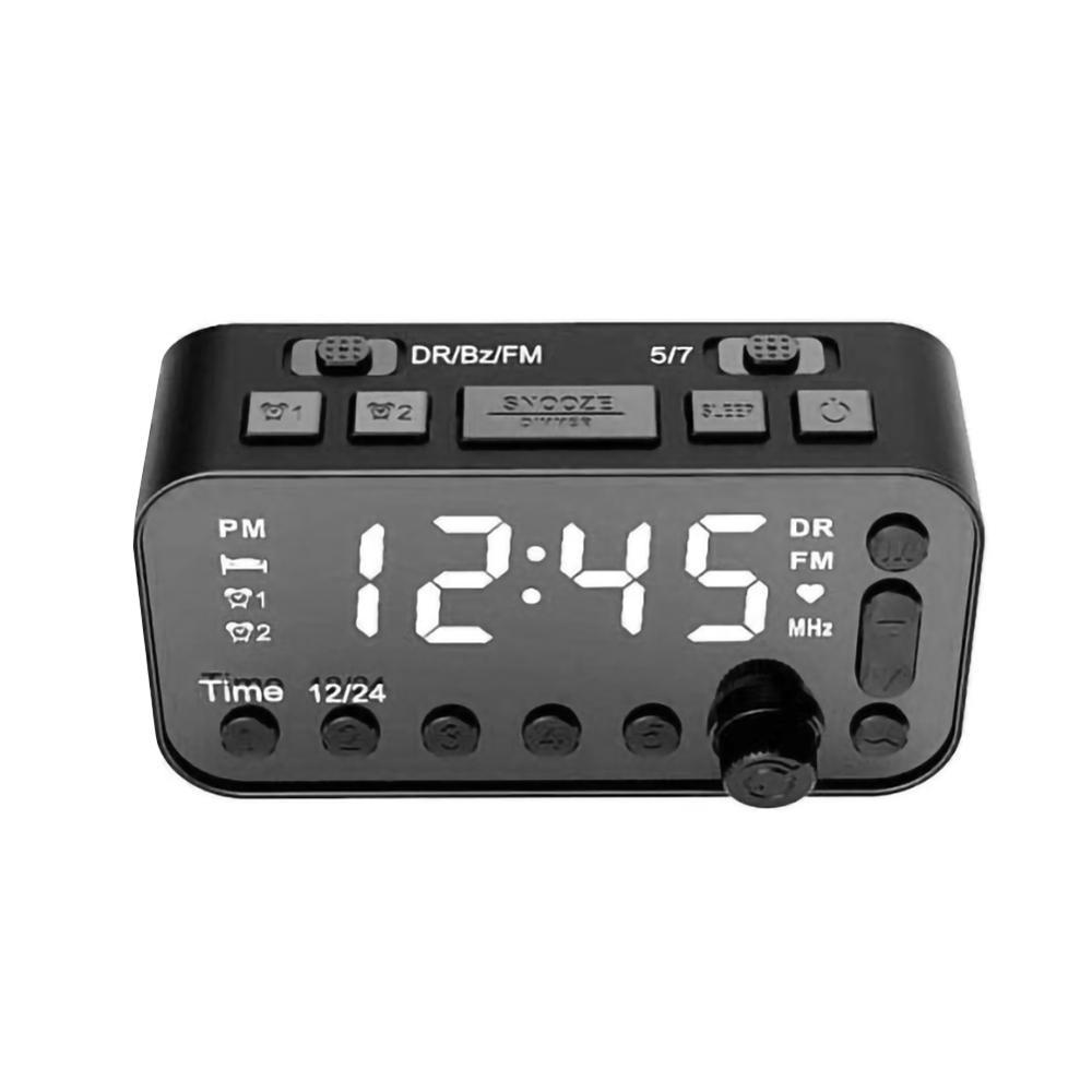 alarm clock DAB & FM Alarm Clock Radio With Bluetooth Speaker FM Radio LED Mirror Alarm Clock Snooze Desktop Clocks Wireless Music Player (3)
