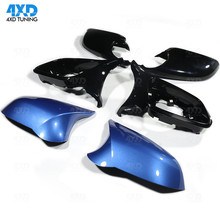 M2 F87 Gloss Black white esto blue Mirror Cover For BMW F20 F30 X1 E84 Side RearView mirror ABS&carbon look M LOOK 6 Pcs Replace jackson js32 dka m dinky gloss white