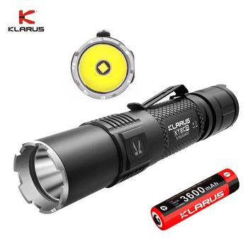 2020 KLARUS XT2CR CREE XHP35 HD E4 LED Flashlight 1600 lumens Compact Super-bright Dual-switch Rechargeable Tactical Flashlight