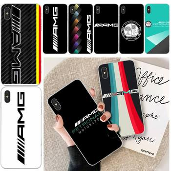 Luxury Mercedes Benz AMG Car Phone Case Transparent Phone Case For Iphone 11 12 Pro Max Xr X 7 8 PLUS image