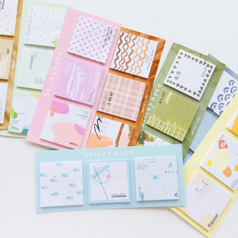 60 Pages Watercolor Natural Scenery Memo Pad Sticky Notes Notepad