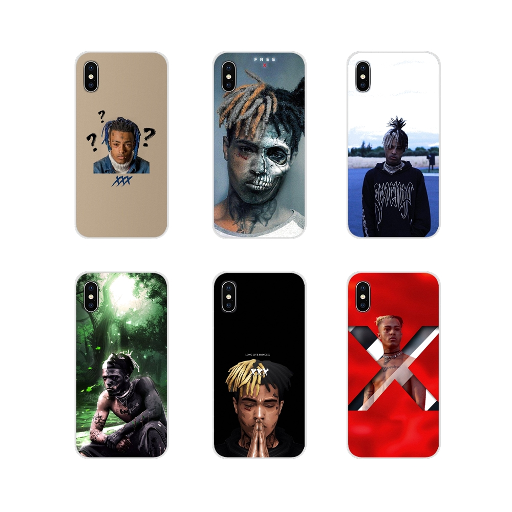 TPU Transparent Fall Abdeckung Für Apple <font><b>iPhone</b></font> X XR XS 11Pro MAX 4S <font><b>5S</b></font> 5C SE 6S 7 8 Plus ipod touch 5 6 Hip-Hop Sänger <font><b>XXXTentacion</b></font> image