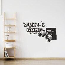 Геймер зоны контроллеры игровой художественная Наклейка на стену художественные наклейки на стену Mural, наклейки для гостиной Винил Съемный...