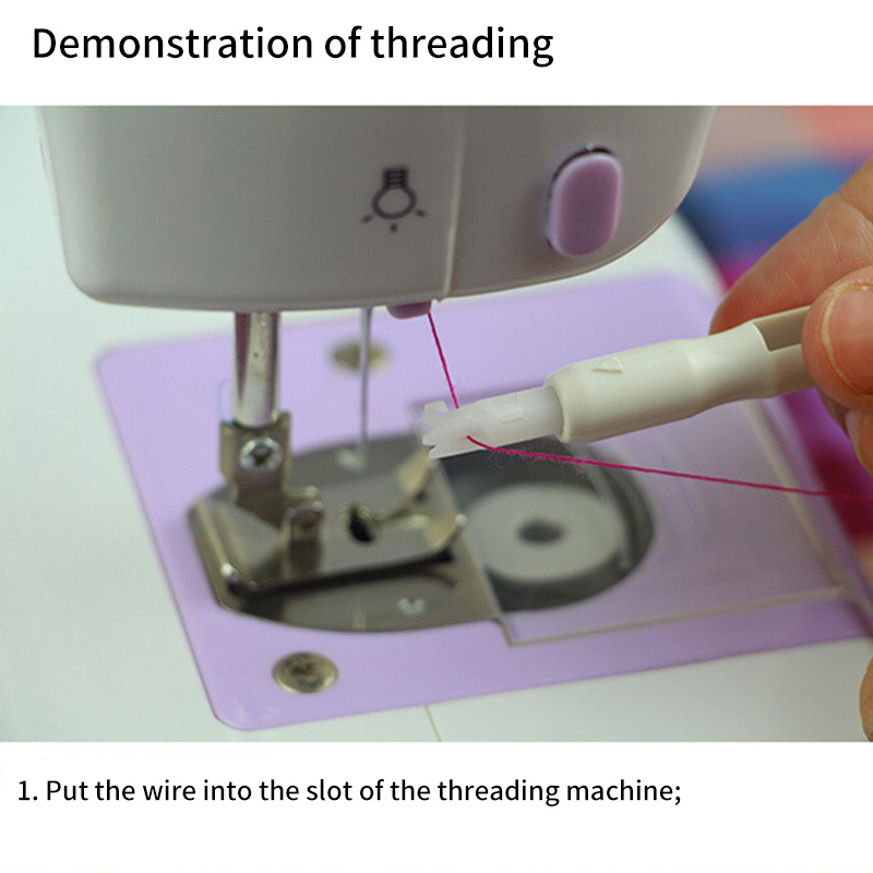 1pc Needle Threader Thread Wire Insertion Hand Sewing Machines Use Sewing Tools
