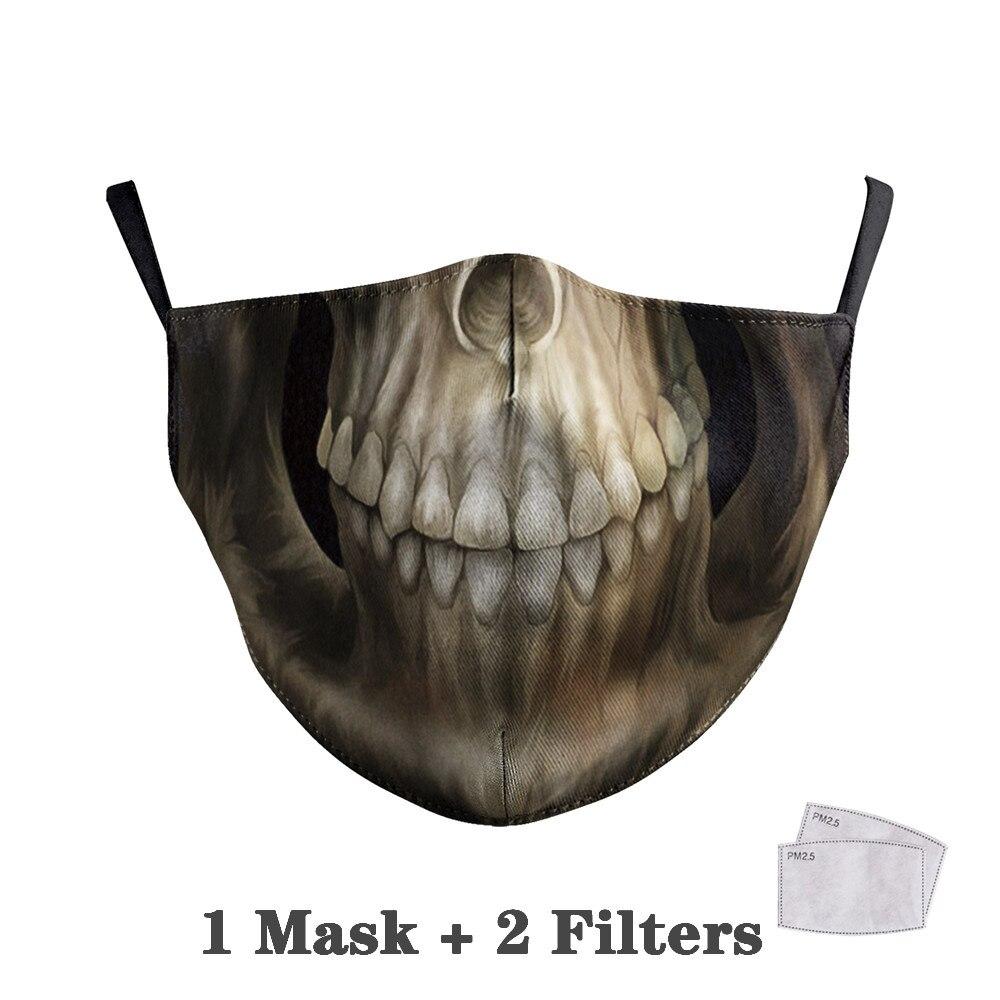 Washable Big Mouth Skull Face Masks 18