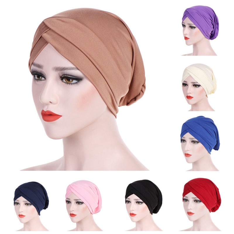 Muslim Women Head Scarf Cotton Underscarf Stretch  Cover Headwrap Underscarf Cap Shawl Islam Scarf Inner Bonnet