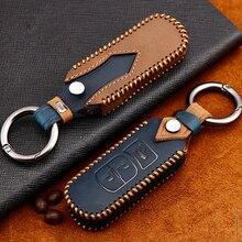 Leather Car Remote Key Case Fob For Mazda 2 3 6 Atenza Axela CX-5 CX5 CX 5 CX-7 CX-9 2015 2016 2017 2018 Smart 2/3 Buttons qcontrol 3 buttons smart key suit for mazda cx 3 cx 5 axela atenza model ske13e 01 car remote control