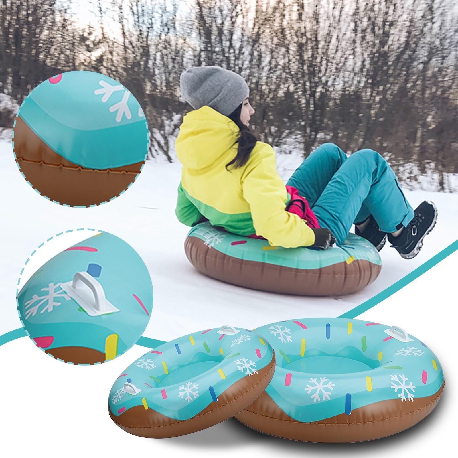 80 # надувные лыжи кольцо для катания на лыжах ПВХ снежные сани шины трубка для детей Лыжная площадка Спорт на открытом воздухе с ручкой надувные лыжи кольцо