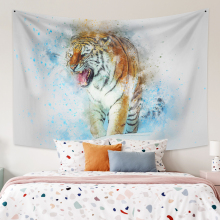 Wall Hanging Tapestry Tiger Background Boho Decor Fabric Wall Tapestry Fabric Wall Carpet Dorm Decor for Bedroom Wall Home Decor feather fabric wall hanging home decor tapestry