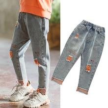 Denim Trousers Jeans Toddler Baby-Girl Kids Cotton New-Fashion Broken-Hole-Pants Children