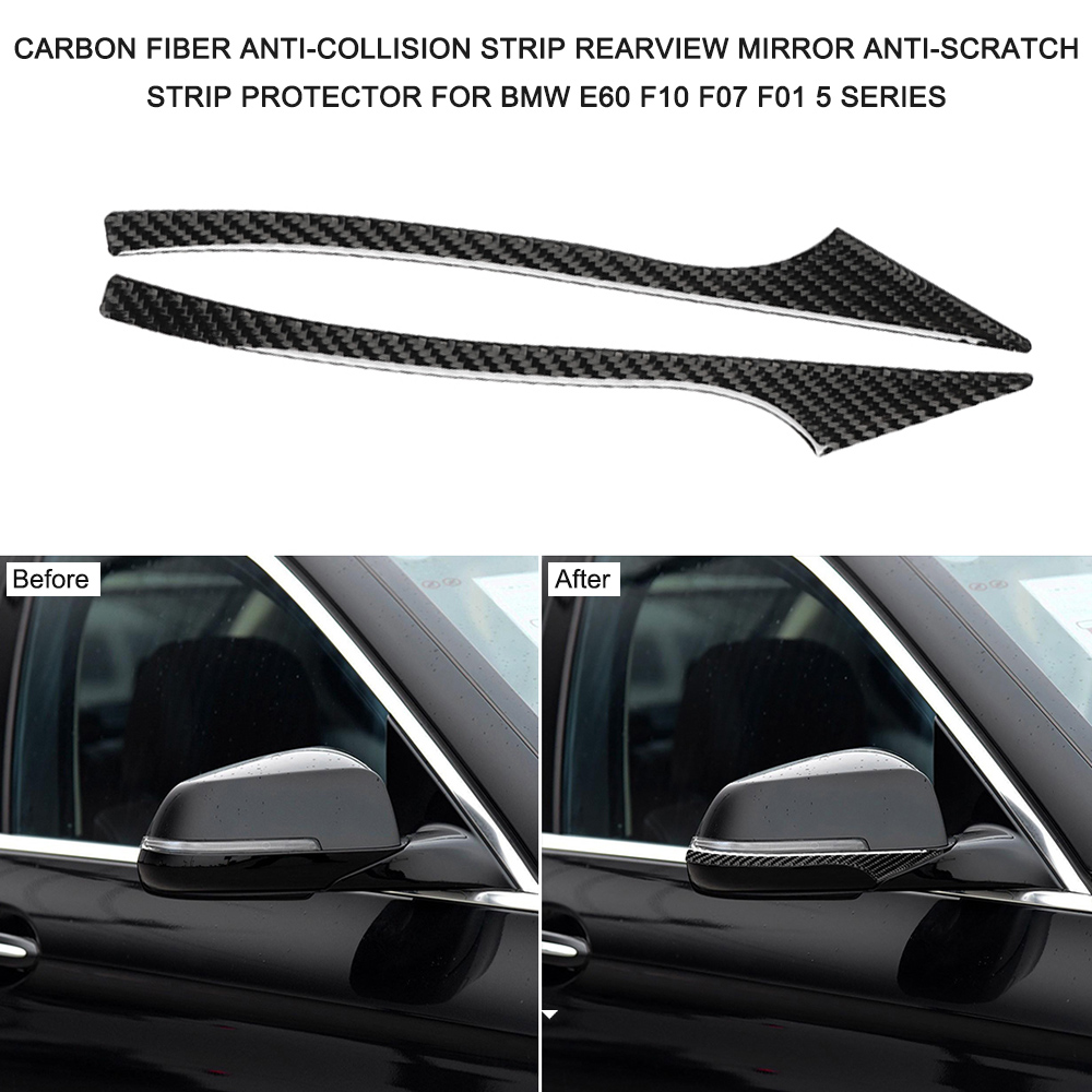 For BMW E60 F10 F07 F01 5 Series Car Stickers Auto Rearview Mirror Anti-Collision Strip Anti-Scratch Strip Protector Stickers