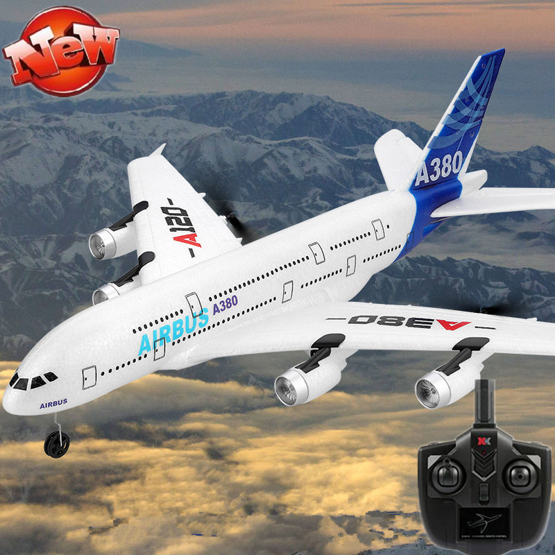 Simulation Airbus A380 Electric RC Plane toy 2.4G 300M 51CM Large EPP Fixed Wing Airplane Remote Control RC Glider Add LED Light image