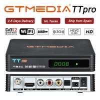 GTMEDIA TT Pro DVB-T2/T DVB-C TV Combo Receiver Support H.265 HD 1080P + 1 Year CCCAM for Spain Poland Germany Russian DVBT2 Box