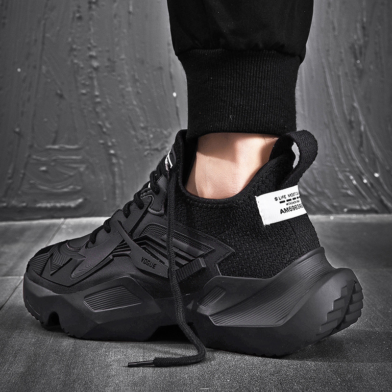 VSIOVRY Spring Autumn Trend Men Running Shoes Leather Breathable Sneakers Men Outdoor Walking Sport Shoes Lightweight Krasovki
