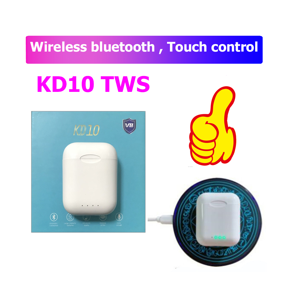 Original Wireless Bluetooth earbuds KD10 tws earphone support wireless charging PK wi chip i20 i30 i60 <font><b>i80tws</b></font> for all smartphone image