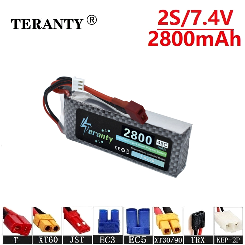 Collision avoidance 7.4v <font><b>2800maH</b></font> 45C <font><b>Lipo</b></font> Batterry For RC Cars Boats Quodcopter Spare Part <font><b>2s</b></font> <font><b>2800mah</b></font> 7.4v Rechargeable battery image
