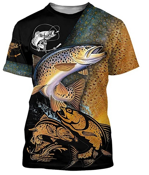 Brown trout Fishing T Shirt All Over Print