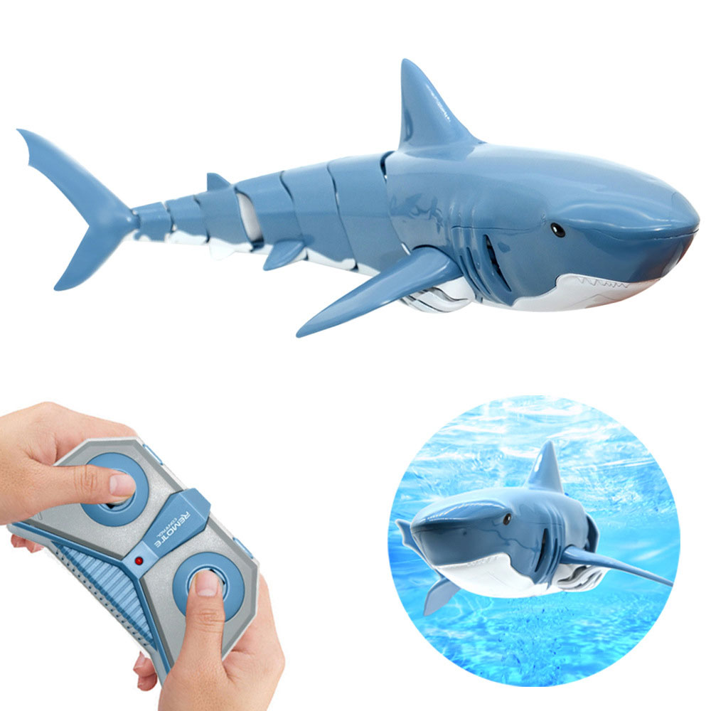 Tiburón de Control remoto 2,4G simulación eléctrica RC Fish 20 minutos batería recargable agua piscina niños juguetes caliente 2020