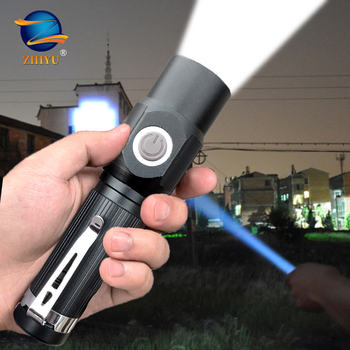 Ultra Bright LED Flashlight with XML T6 LED Lamp Beads Waterproof Torch Zoomable 3 Lighting Modes Multi-function USB Charging sitemap 139 xml