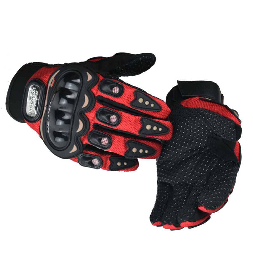 2 stücke Rot/Blau/Schwarz Motorrad Handschuhe Carbon Faser Männlichen Motorrad Voll Finger Handschuhe Motorrad Dekoration Zubehör