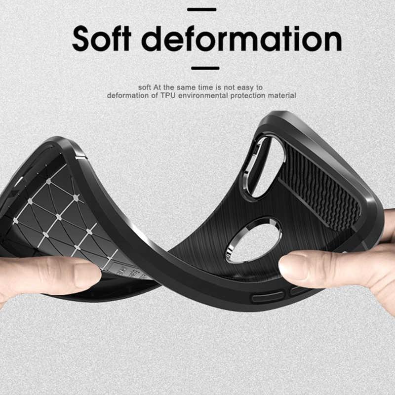 Caso Capa de fibra de Carbono À Prova de Choque Caso de Telefone Para Xiao mi mi 8/mi Max 3 Caso 360 Proteção Total bumper Para 8 mi mi Vermelho Nota 6 Pro