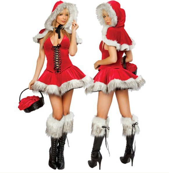 Elegant Women Dress 2019 New Ladies Cosplay Costume Christmas Santa Claus Stage Show Clothing <font><b>Sexy</b></font> Red <font><b>COS</b></font> Dancing Robe Gowns image