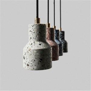 Image 5 - Nordique Art lustre personnalité décoration café Restaurant café magasin vestiaire salon Bar allée ciment Terrazzo Ligh