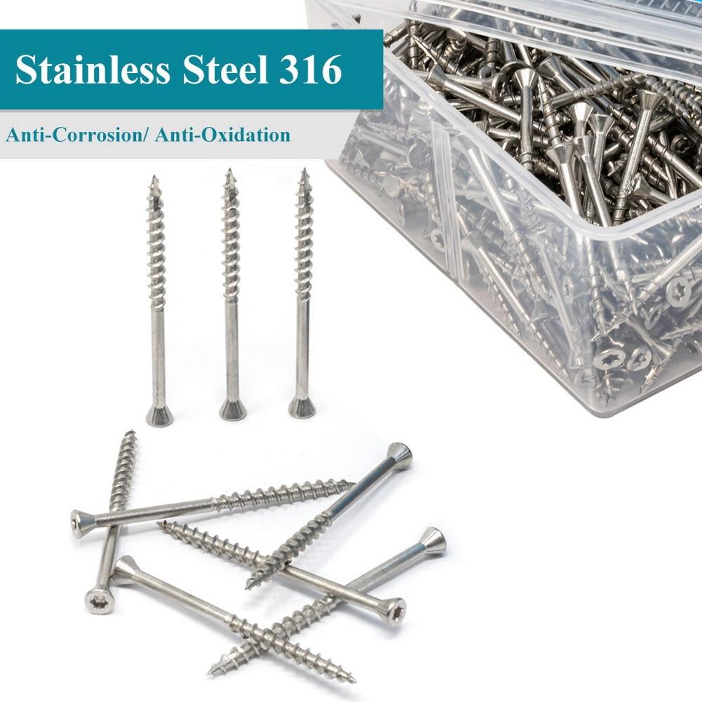 Torx entalhe estrela tipo 17 parafusos de madeira de aço inoxidável deck