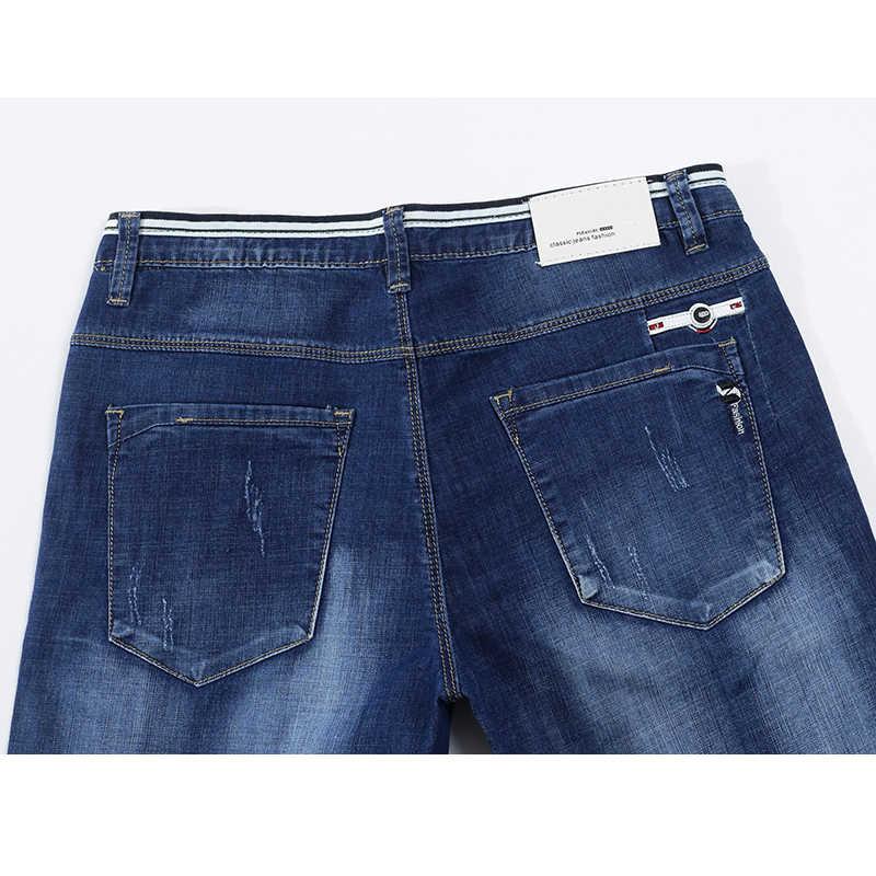 KSTUN Herren Jeans Marke Stretch 2020 Sommer Dünne Slim Fit Blau Hip Hop Zerrissene Jeans Männer Denim Hosen Casaul Gespleißt jean Großhandel