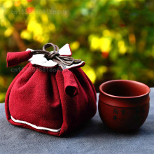 Cloth-Bag Portable And Tea-Cup Logo Single-Pot Custom Mouth Purple