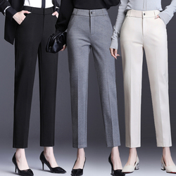 Woman Straight Pants Autumn Winter High Waist Plus Size Slim Office Lady Full Length Trousers Female Ankle Trousers Good Quality