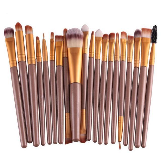 20pcs/set Makeup Brushes Pro Blending Eyeshadow Powder Foundation Eyes Eyebrow Lip Eyeliner Make up Brush Cosmetic Tool 3