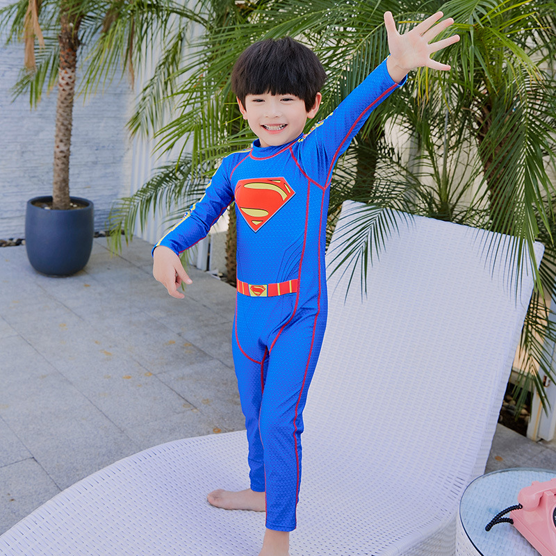 New Products KID'S Swimwear BOY'S Big Boy Split Type Tour Bathing Suit Baby Infants Hot Springs Boys' Swimming Trunks Set