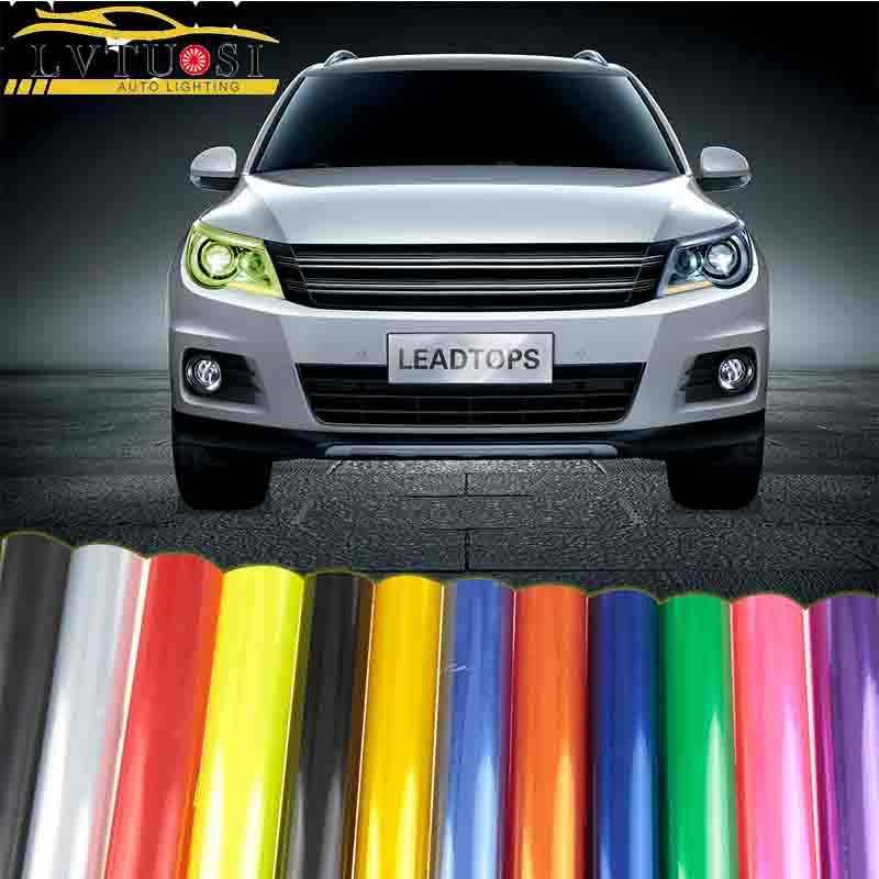 車のスタイリング 13 色 30 × 100 センチメートルカーライトヘッドライトテールランプ保護フィルムステッカーランプステッカーブレーキライトアクセサリー AJ
