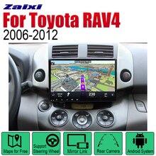 купить ZaiXi Auto Radio 2 Din Android Car Player For Toyota RAV4 2006~2012 GPS Navigation BT Wifi Map Multimedia system Stereo онлайн
