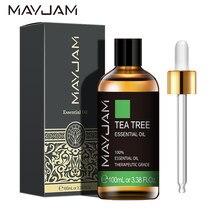 100ml puro natural chá árvore óleos essenciais 100% planta aromático óleo essencial difusor lavanda eucalipto sândalo lemongrass