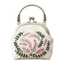 3d diy fita bordado saco conjunto, kits de costura ponto cruz saco de corrente com aro, artesanal swing bolsa carteira presente criativo