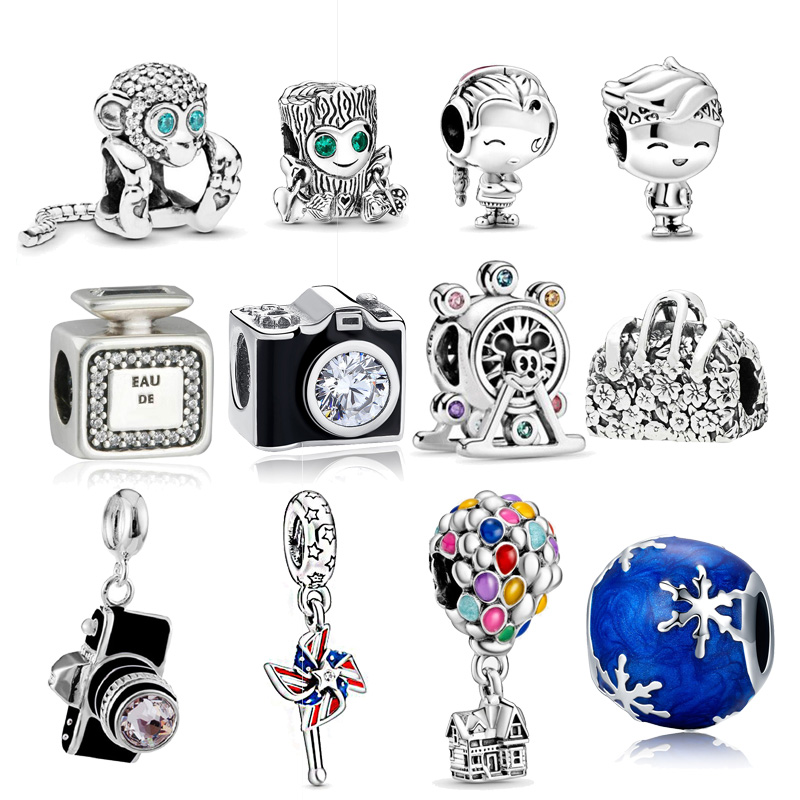 Hot Sale Girl Boy Charm Beads Fit 3mm Bracelet Authentic 925 Sterling Silver Baby Travel Beads DIY Jewelry Making(China)