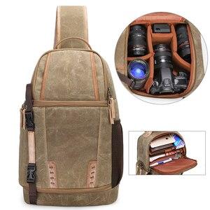Image 2 - Waterproof Camera Bag Backpack Large Capacity Shockproof Lens Bags Photo Camera Sling Bag Shoulder DSLR for Canon Nikon Sony SLR