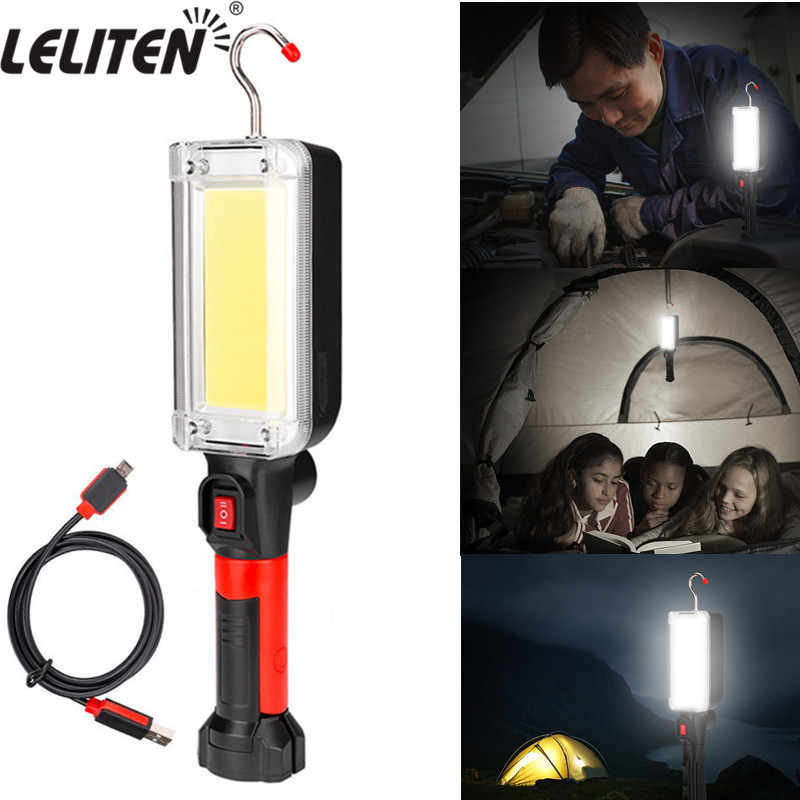 100W LED Rechargeable Car Work Light Camping Tent Torches USB Charging Lamp UK