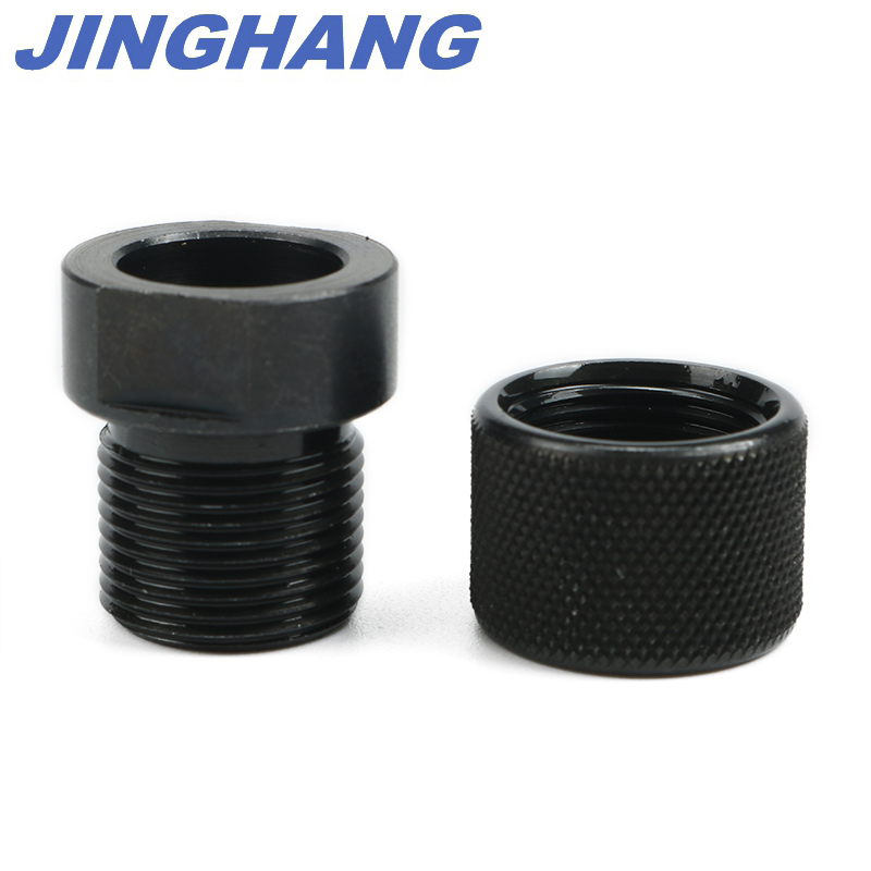 5.56 Black Knurled Adapter 13//16-16 x ½ Long Thread Protector 223