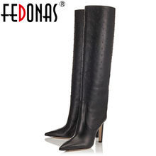 FEDONAS Qualität Kuh Wildleder Frauen Stiefeletten Klassische Grundlegende Büro Schuhe Frau Winter Warm High Heels Weibliche Plattform Kurze Stiefel(China)