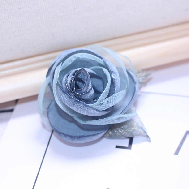 Aku-Remiel Kain Seni Kerah Dekorasi Lencana Syal Bros Selendang Kain Bunga Pin Kerah Kemeja Mantel Tempered Suit wanita Buatan Tangan