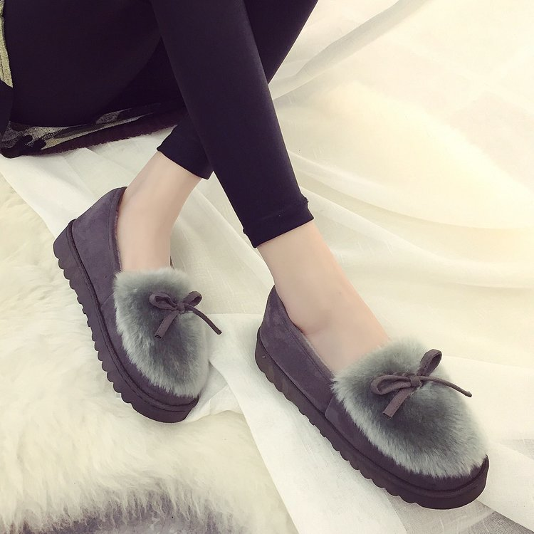 2019 Fashion Winter Women Slippers With Fur Home Outdoor Casual Warm Slippers Female Ladies Cotton Women Winter Shoes Tyh78