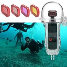 มือถือGimbalอุปกรณ์เสริมสำหรับDJI Osmoกระเป๋ากันน้ำ2กล่องดำน้ำสีแดง/Magenta/เลนส์สีชมพูสำหรับosmoกระเป๋า