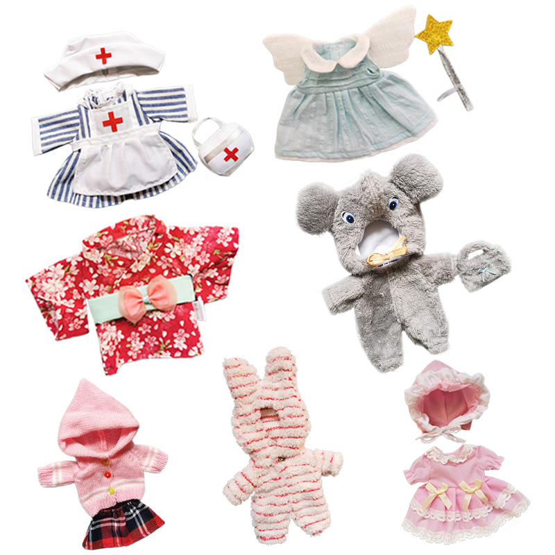 Doll Clothes Fit 25cm Baby Doll Toy 1/6 BJD Doll New Born Doll Accessories Nurse Outfit Suit Girls Gifts