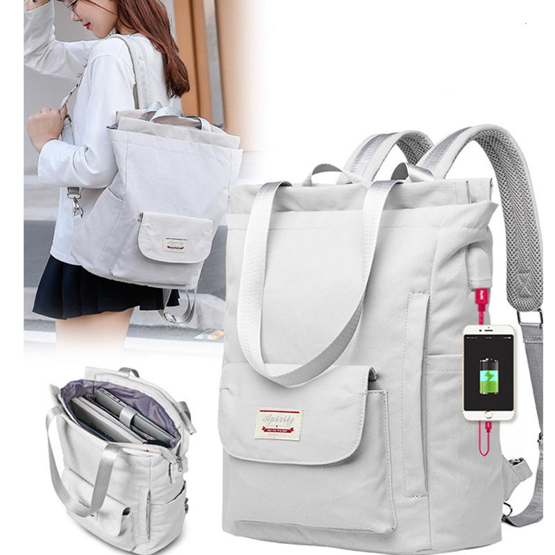 MJZKXQZ Fashion Women Shoulder Bag For Laptop Waterproof Oxford Cloth Notebook Backpack 15.6 Inch Laptop Backpack Girl Schoolbag