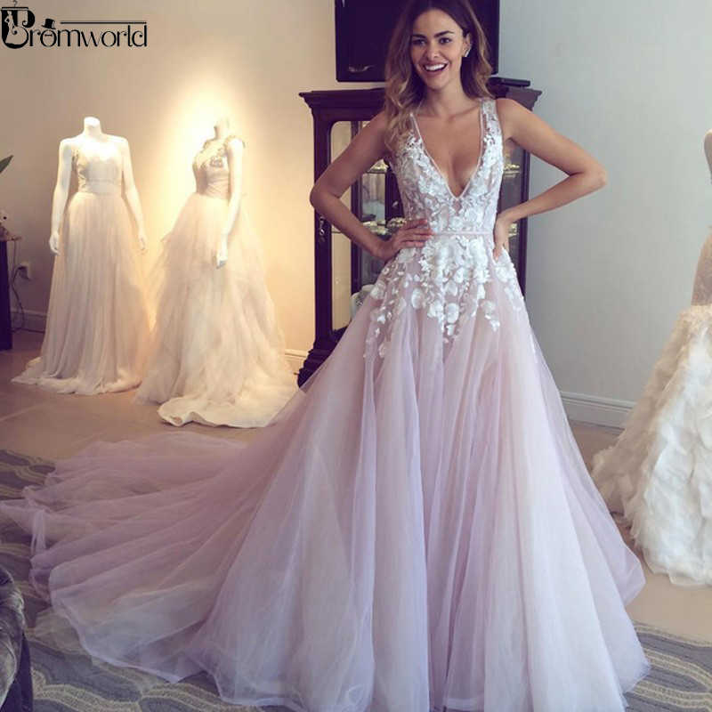 Romantic Princess Wedding Dresses Sweetheart Appliques Flowers A